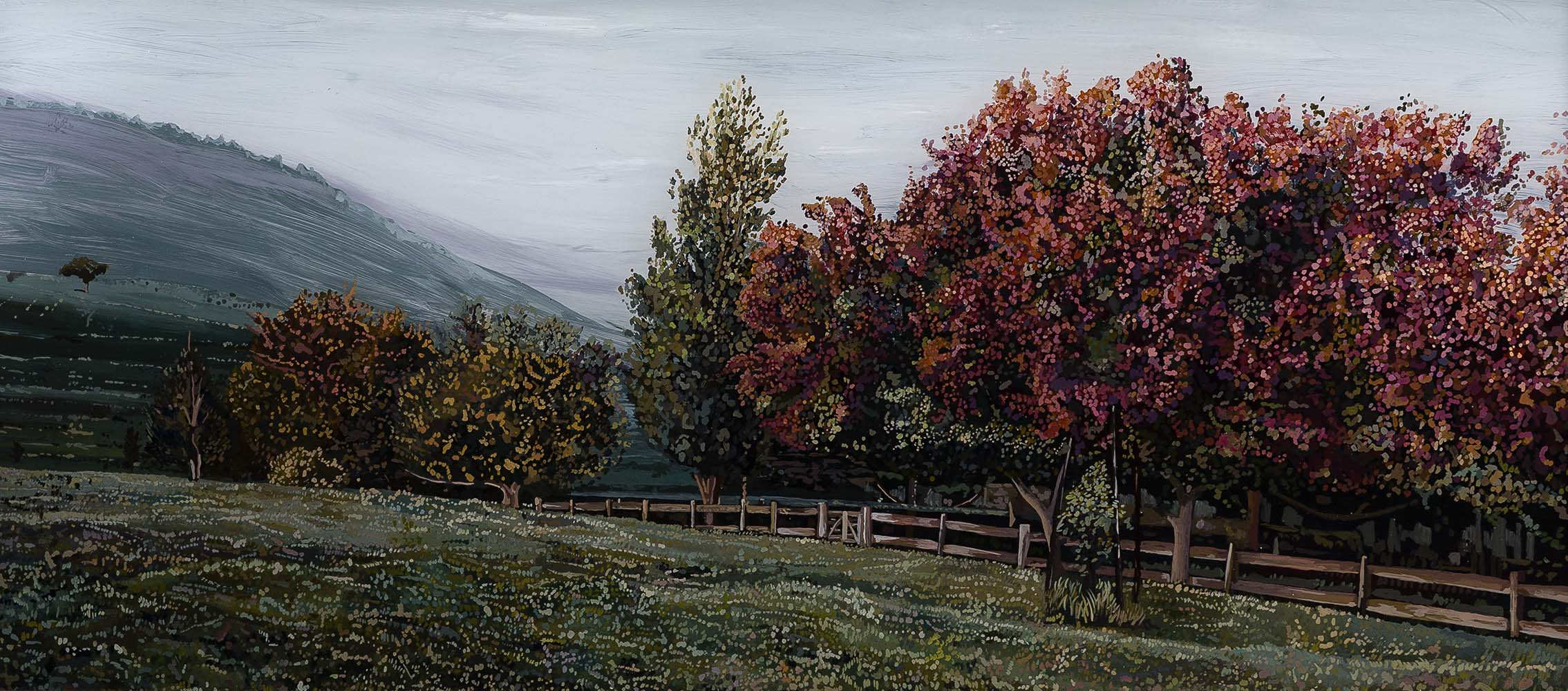Southern Highlands  Acrylic on plexiglass 18in x 36in 2014