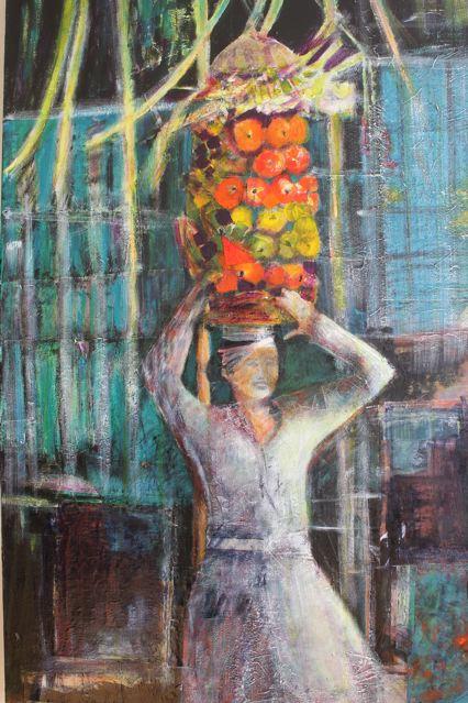 Woman Balancing Fruit