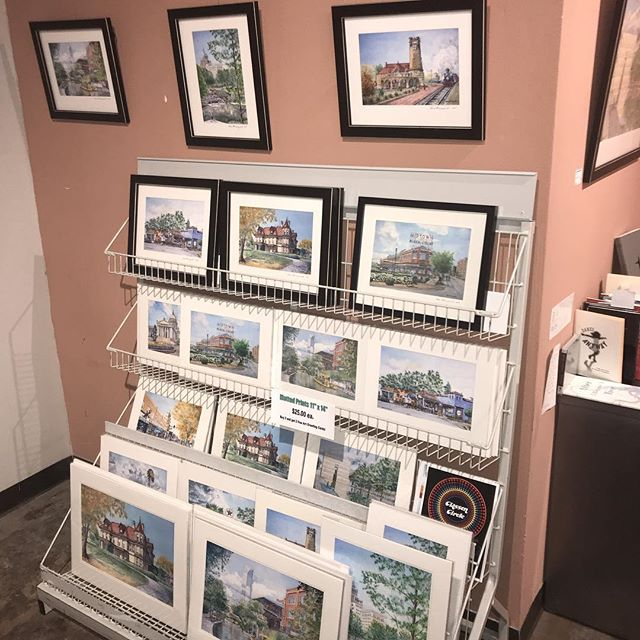 New print shelf for our OKC Landmarks Show featuring Chris Marciszewski.