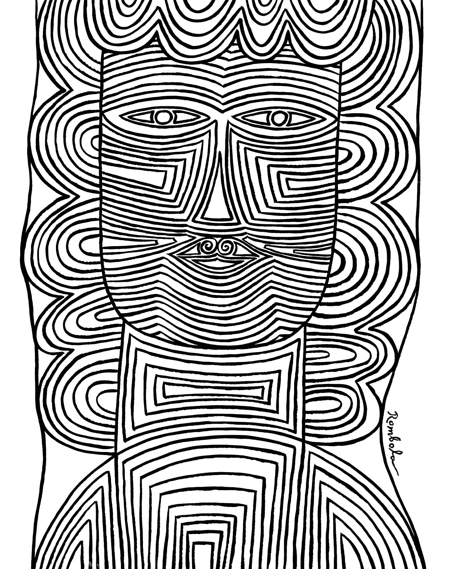 Mask    Ink on paper 1963