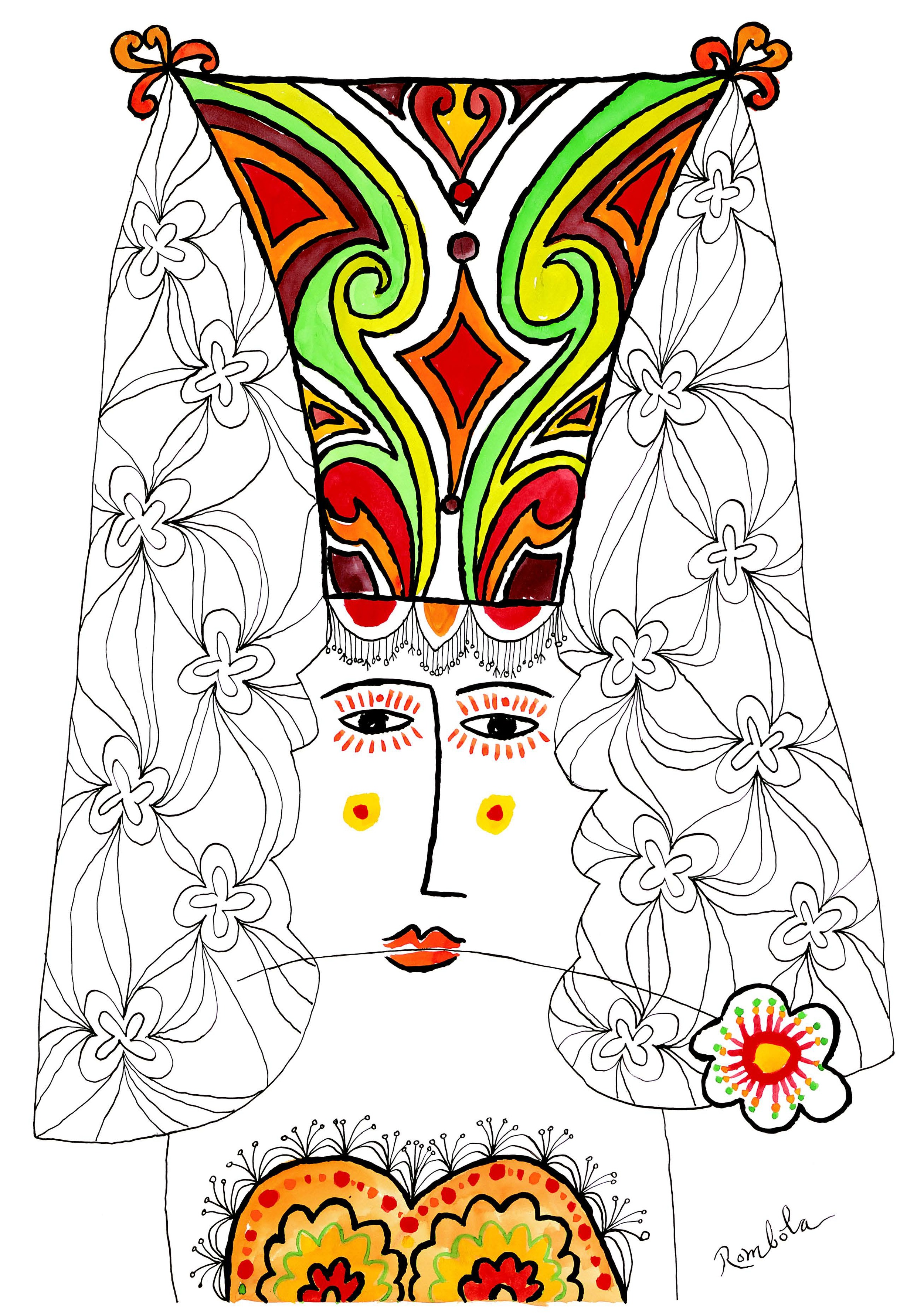Señorita    1960 Gouache and ink on paper. Published in  Horizon , 1960