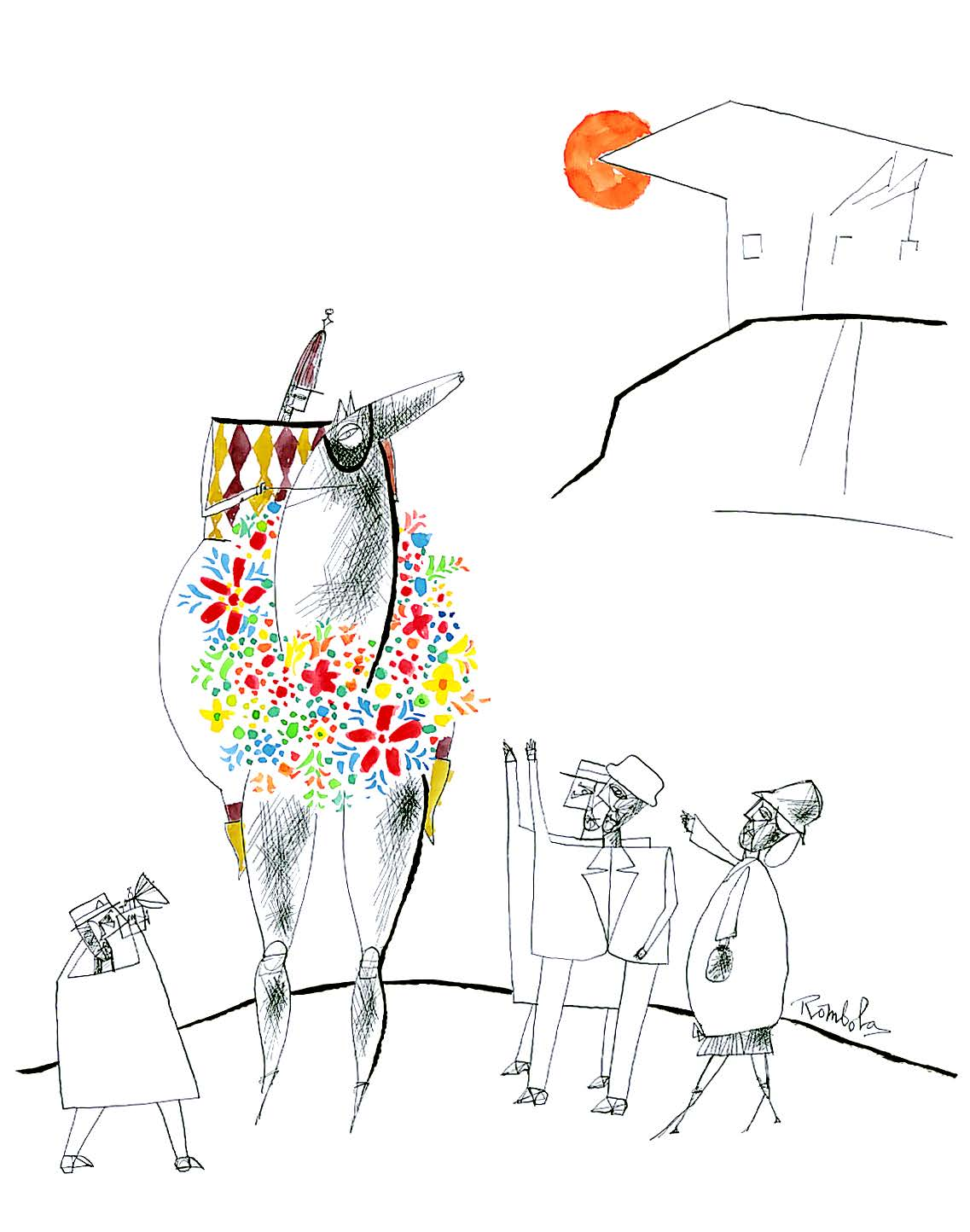 The Winning Horse    Gouache and ink on paper 1960