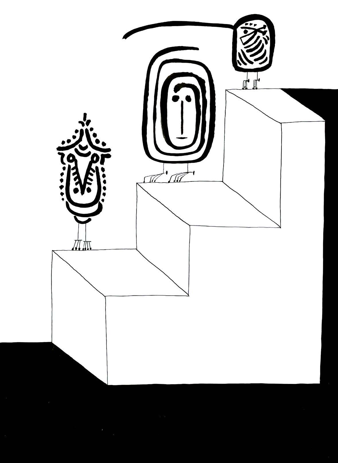 Three Birds    India ink on paper 1968