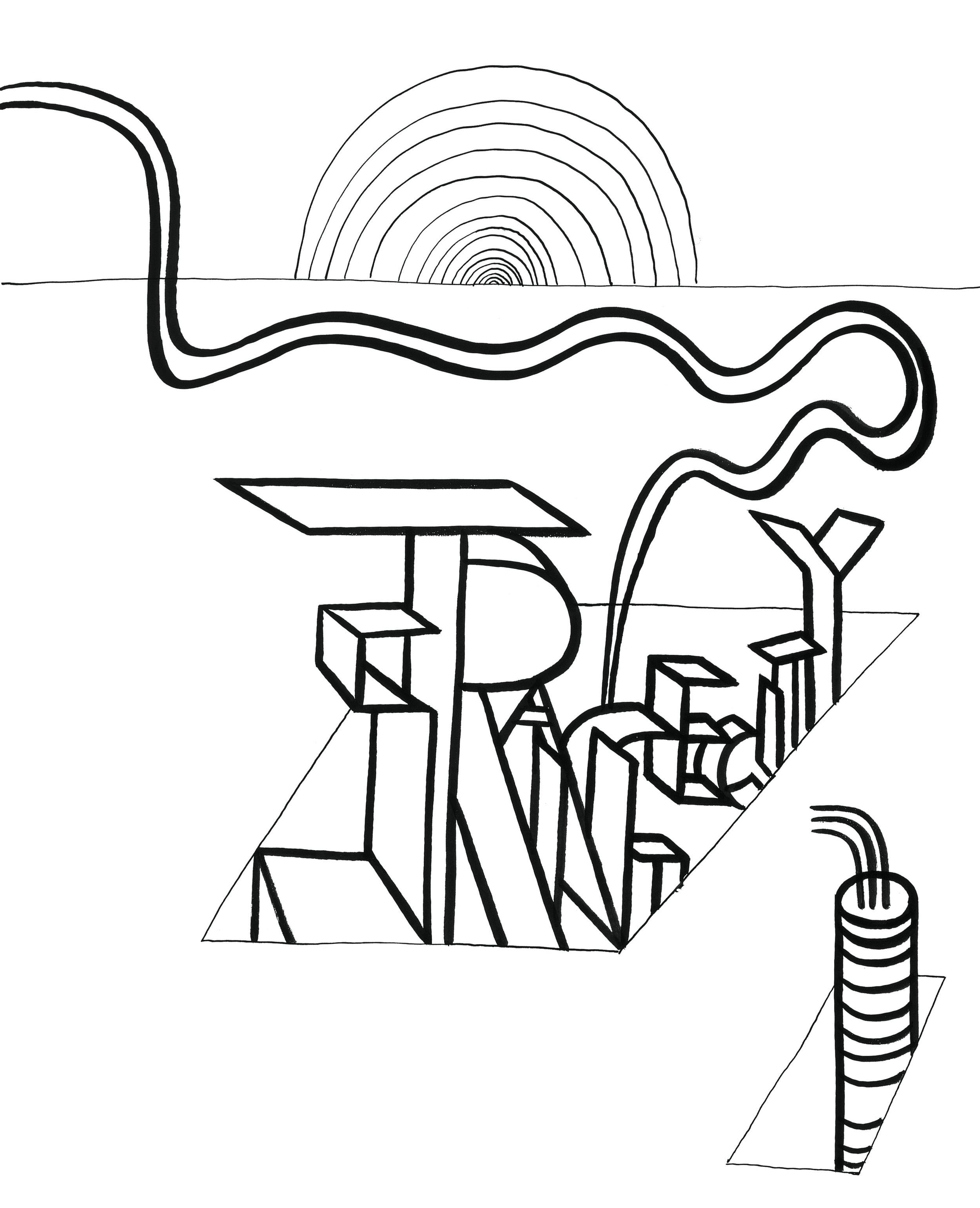 Strange City    Ink on paper 1967