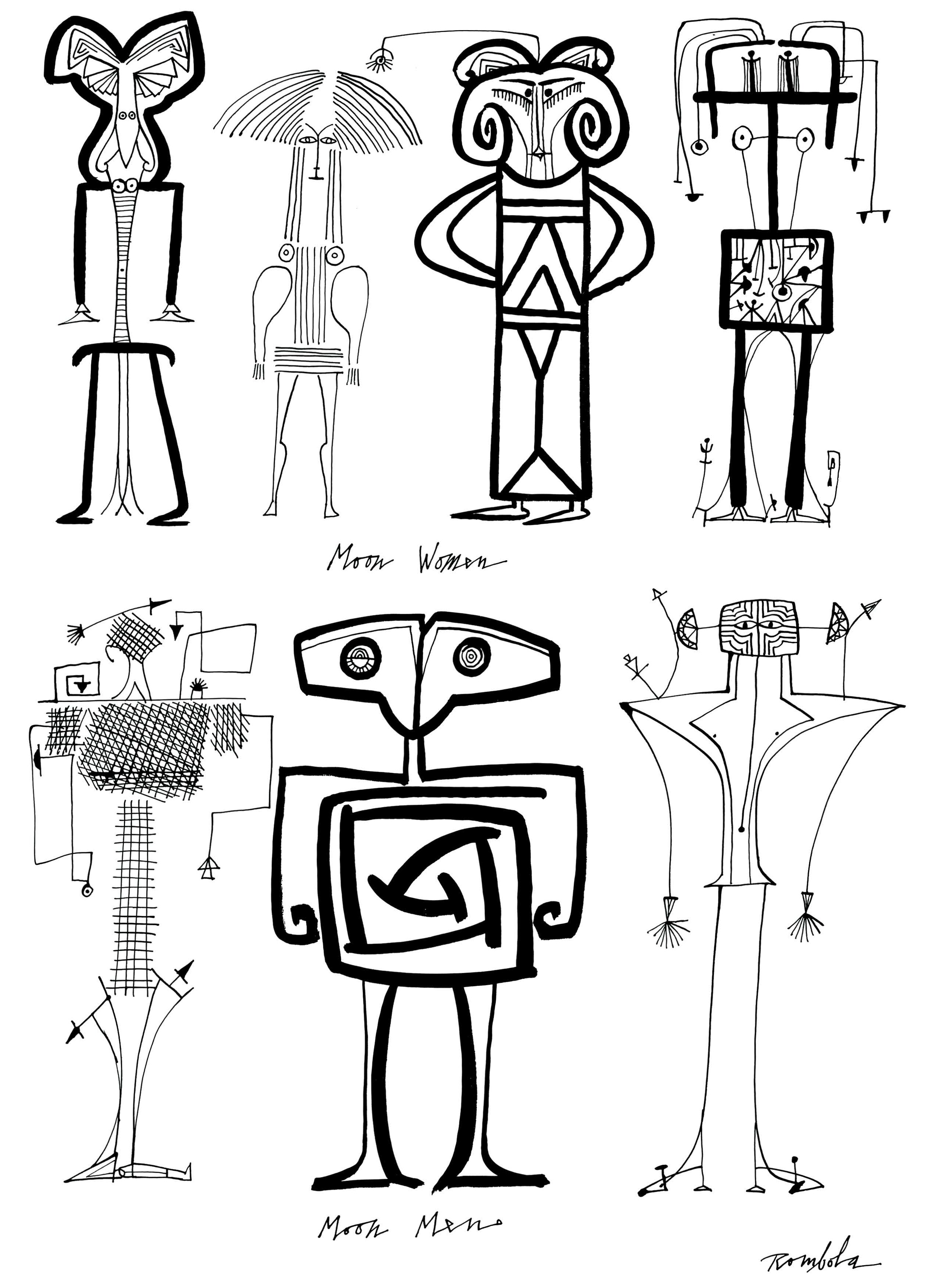 Outer Space People    Ink on paper 1967