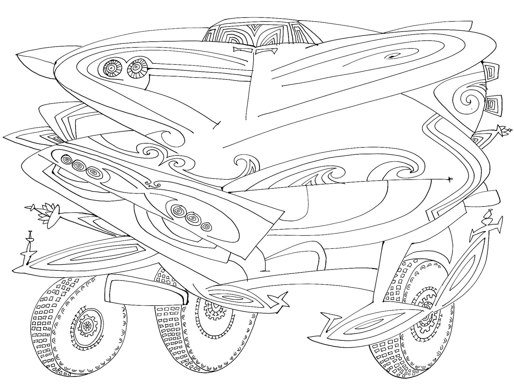 Car Front    Ink on paper 1966