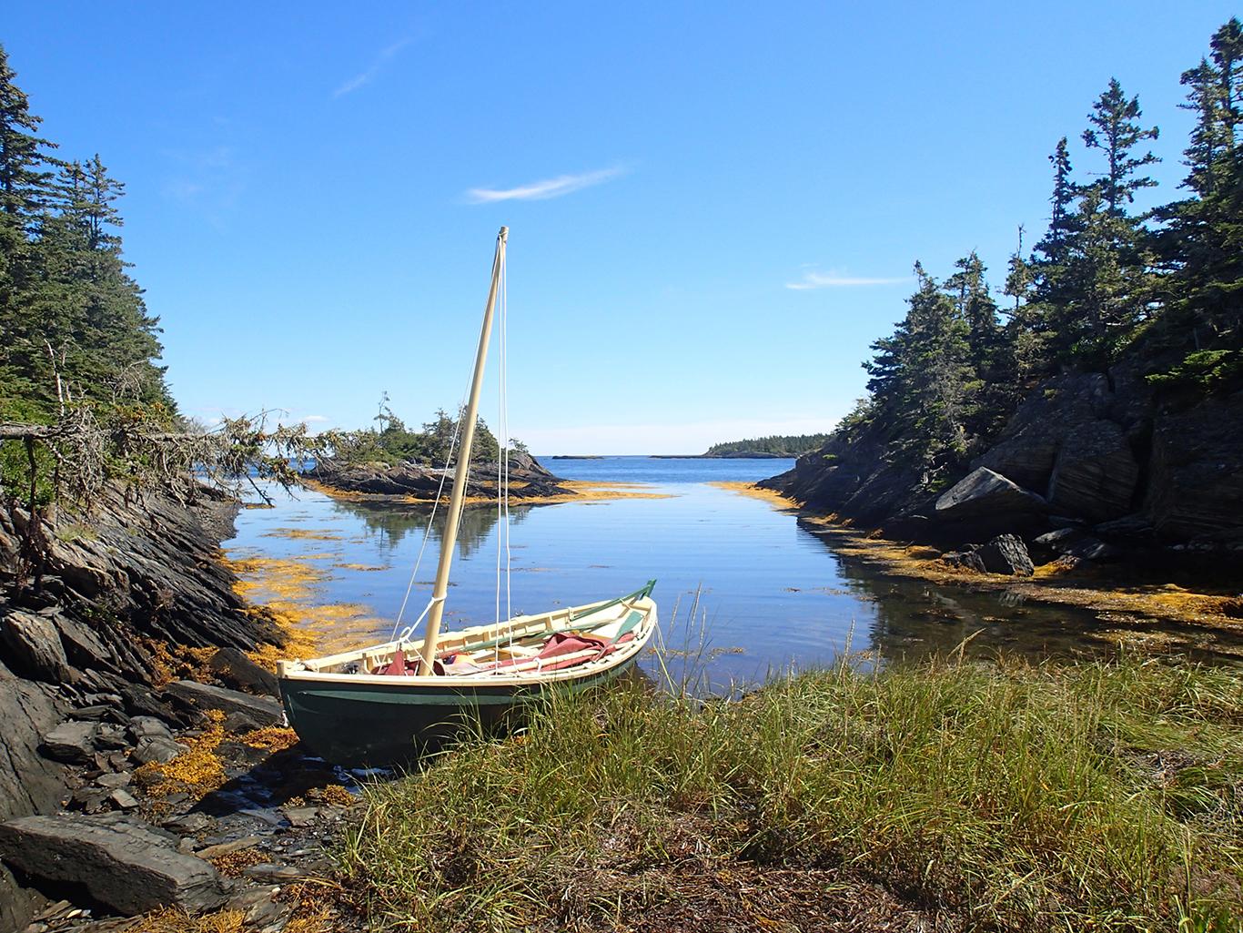 Natant Dory at home in Nova Scotia