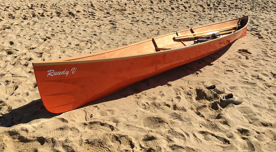 Savo 575 on the beach at the 2016 Wellfleet Rowing Rendezvous.