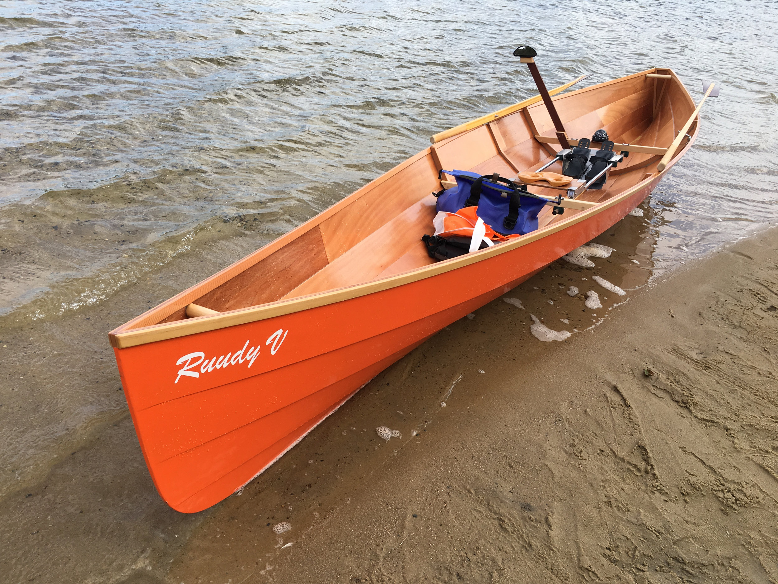 The Savo 575 ready to row...