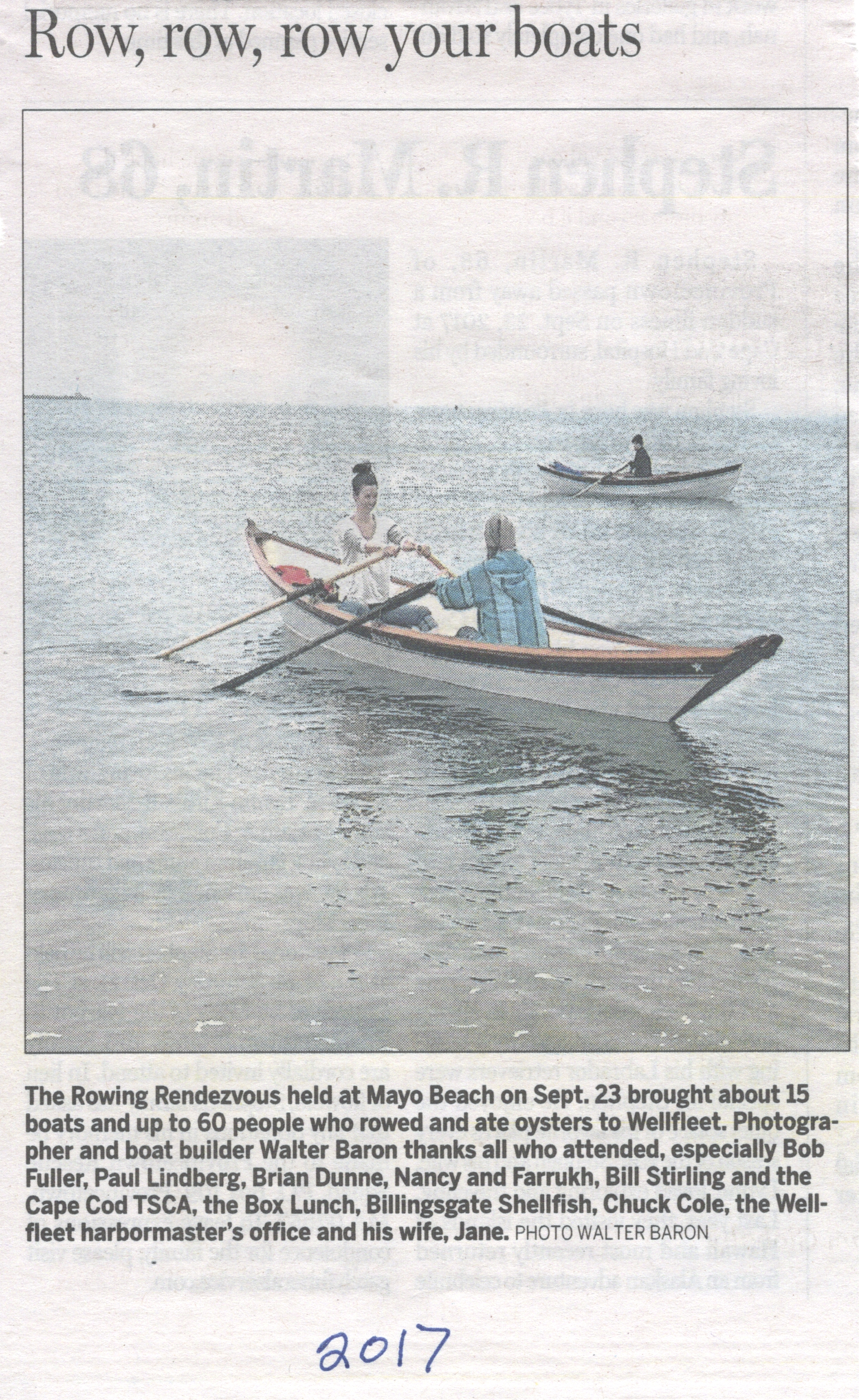 That's Ann Freyss and her daughter Skye rowing a Stretched Light Dory ...