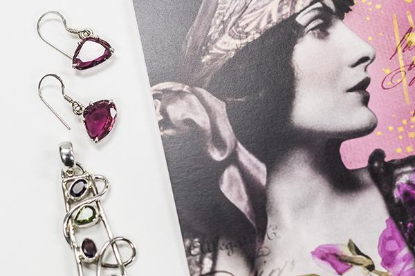 Tourmaline earrings and pendant