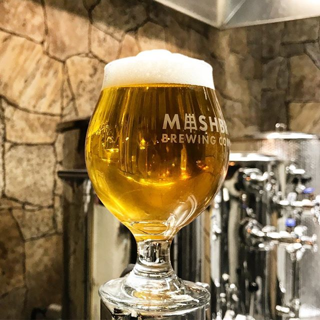 Slow pouring Loralite (dry-hopped lager) to cap off a day of brewing a new batch of Green Matter 🍻 . . . #mashbros #mashtastic #mashbrosbeer #beer #craftbeer #iowabeer #instabeer #iowa #northliberty #iowacity #local #drinklocal #lager #slowpour #craftlager #sundayfunday