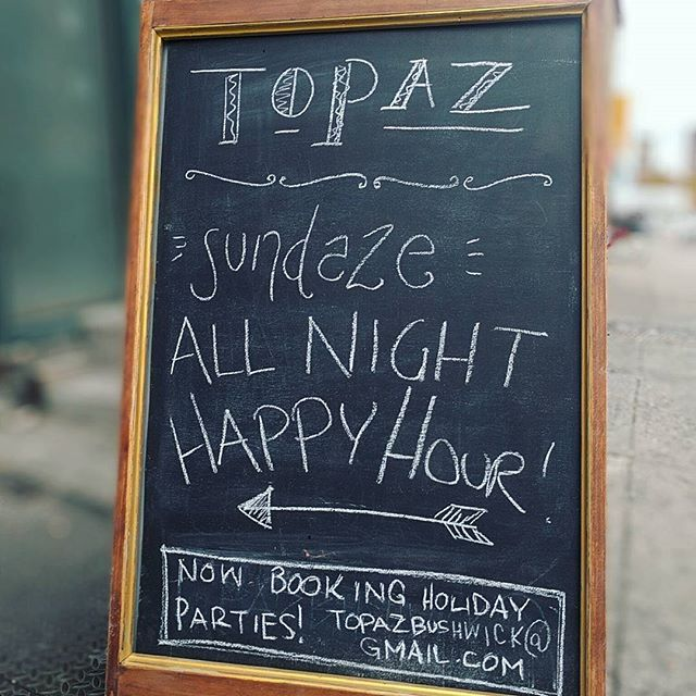 Introducing 👉 Sundaze 👈 All Night Happy Hour! Come get warm.  #sundayoldfashioned ... #bushwick #brooklyn