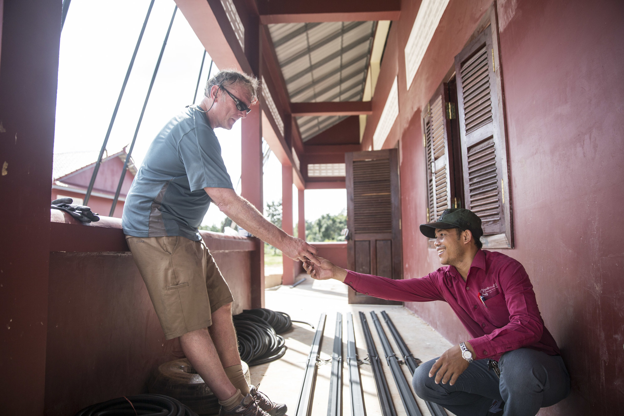 Twende Solar - 26kW Solar PV Installation - Stephen Mazujian Middle School - Siem Reap, Cambodia