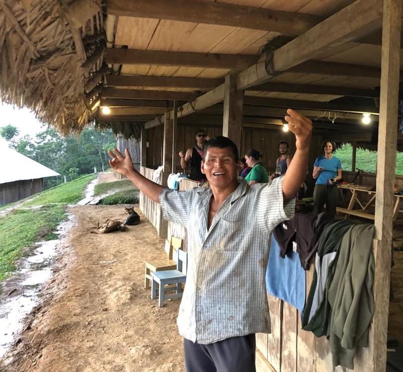 """""""Tenemos luz!""""    - Apu Miguel  (We have light!! - Community Leader Miguel)"""
