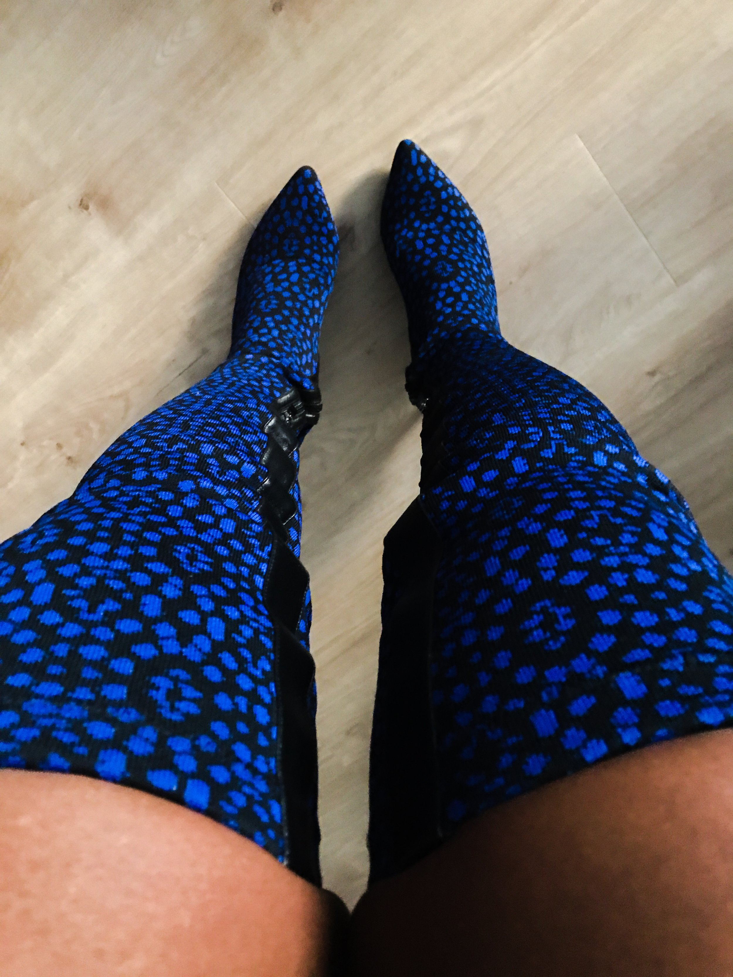 Finally wore these Ohne Titel over the knee boots seen on the runway.