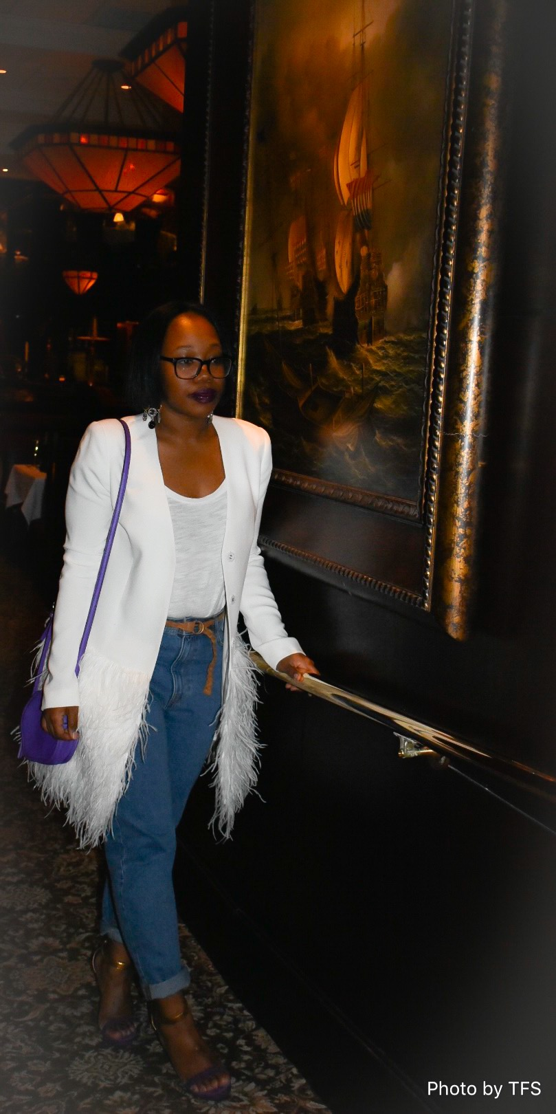 """I personally no longer wear designer jeans. This is just a personal preference of mine.  I was able to put a spin on these Zara """"Mom Fit"""" jeans by rolling up the bottom to create a boyfriend jeans esthetic."""