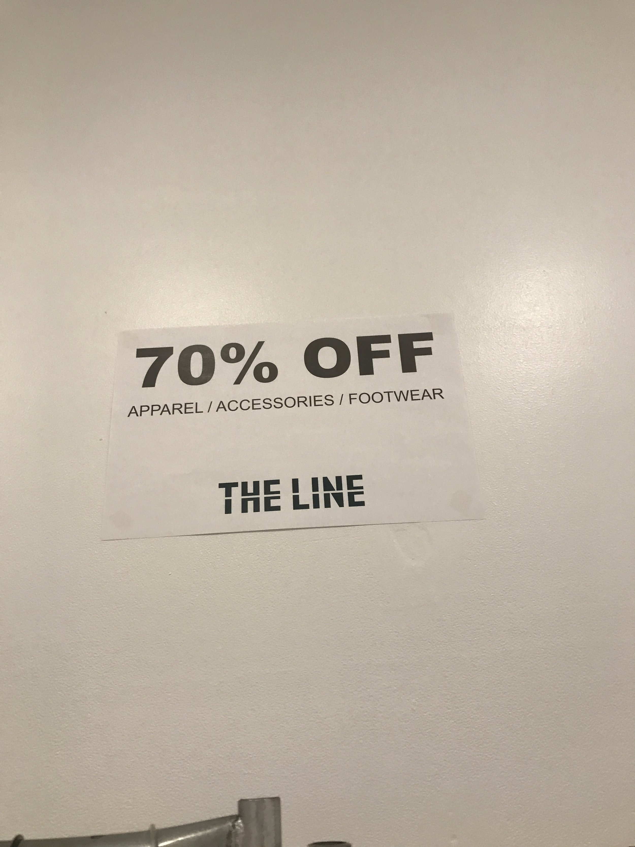 All clothing, accessories, and footwear are 70% off
