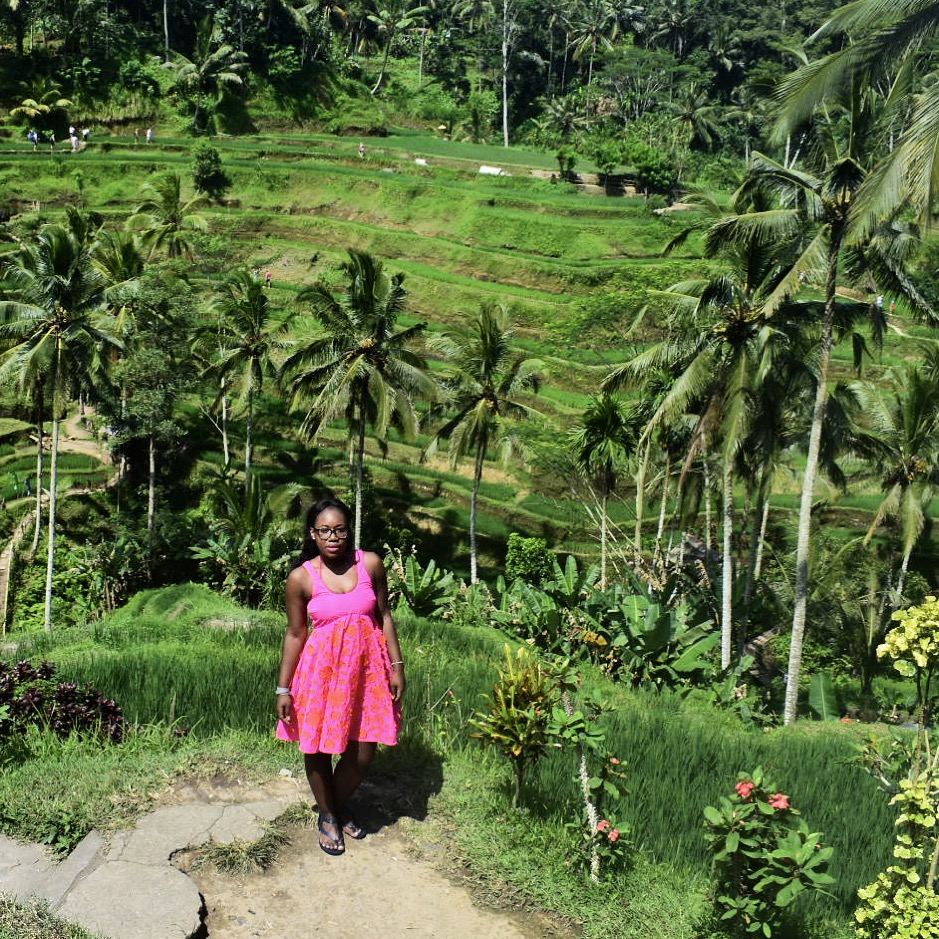 I wore this Versus dress with strappy sandals on our day trip to the rice terraces