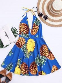 Bohemian Pineapple Halter Swing Dress