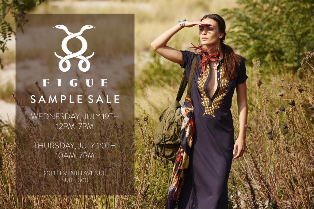 Figue sample sale