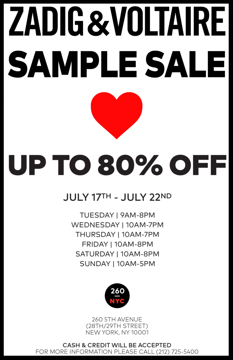 Zadig & Voltaire Sample Sale New York.png