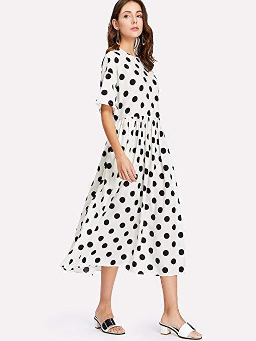Amazon Romwe polka dot dress.jpg
