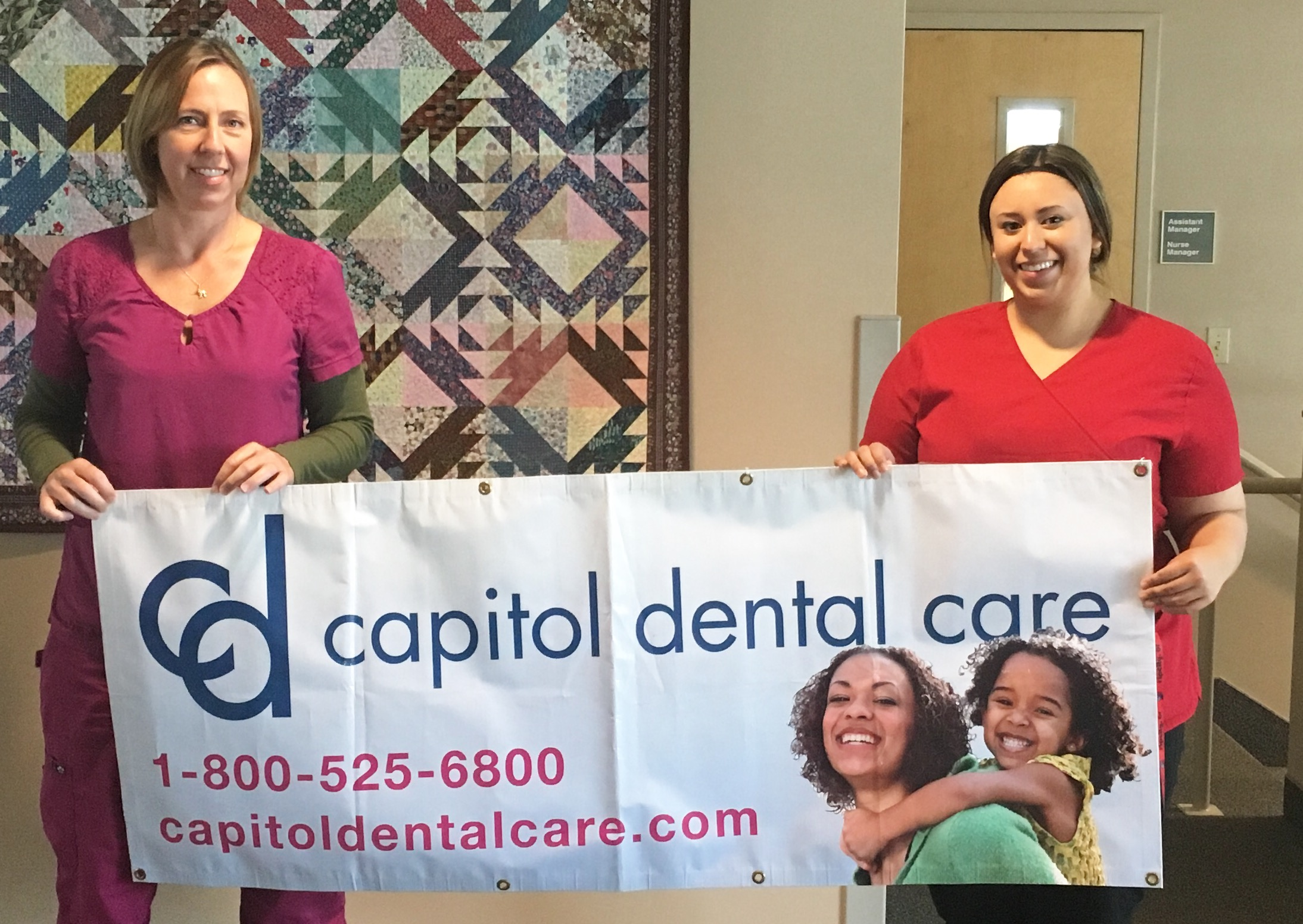 Dawn lowe (left) and vanessa maciel (right) are both expanded practice dental hygienists for capitol dental and serve their communities through co-location programs.