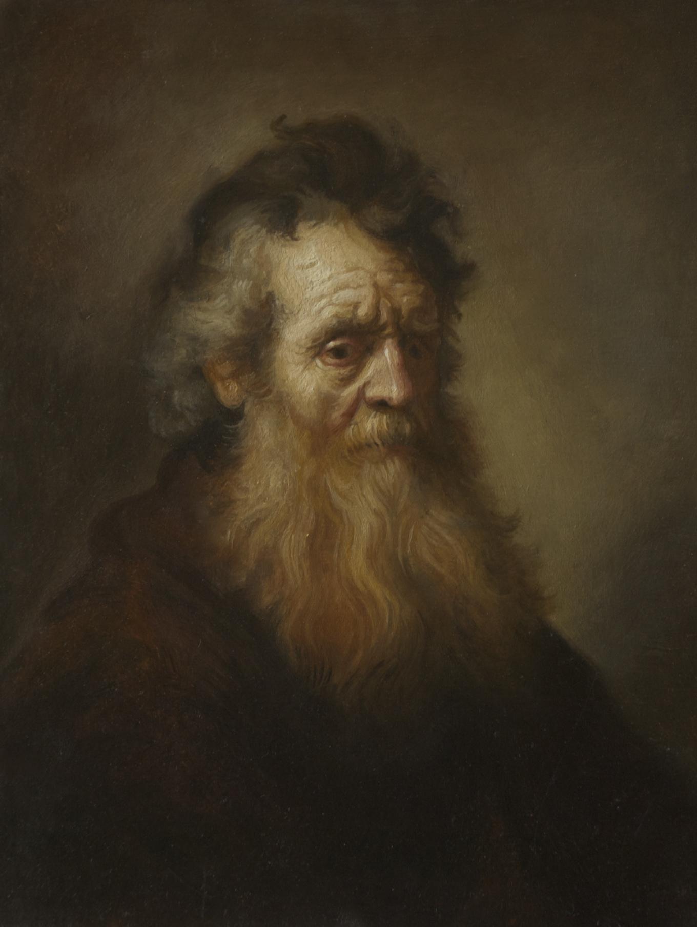 PORTRAIT OF AN OLD MAN, AFTER REMBRANDT