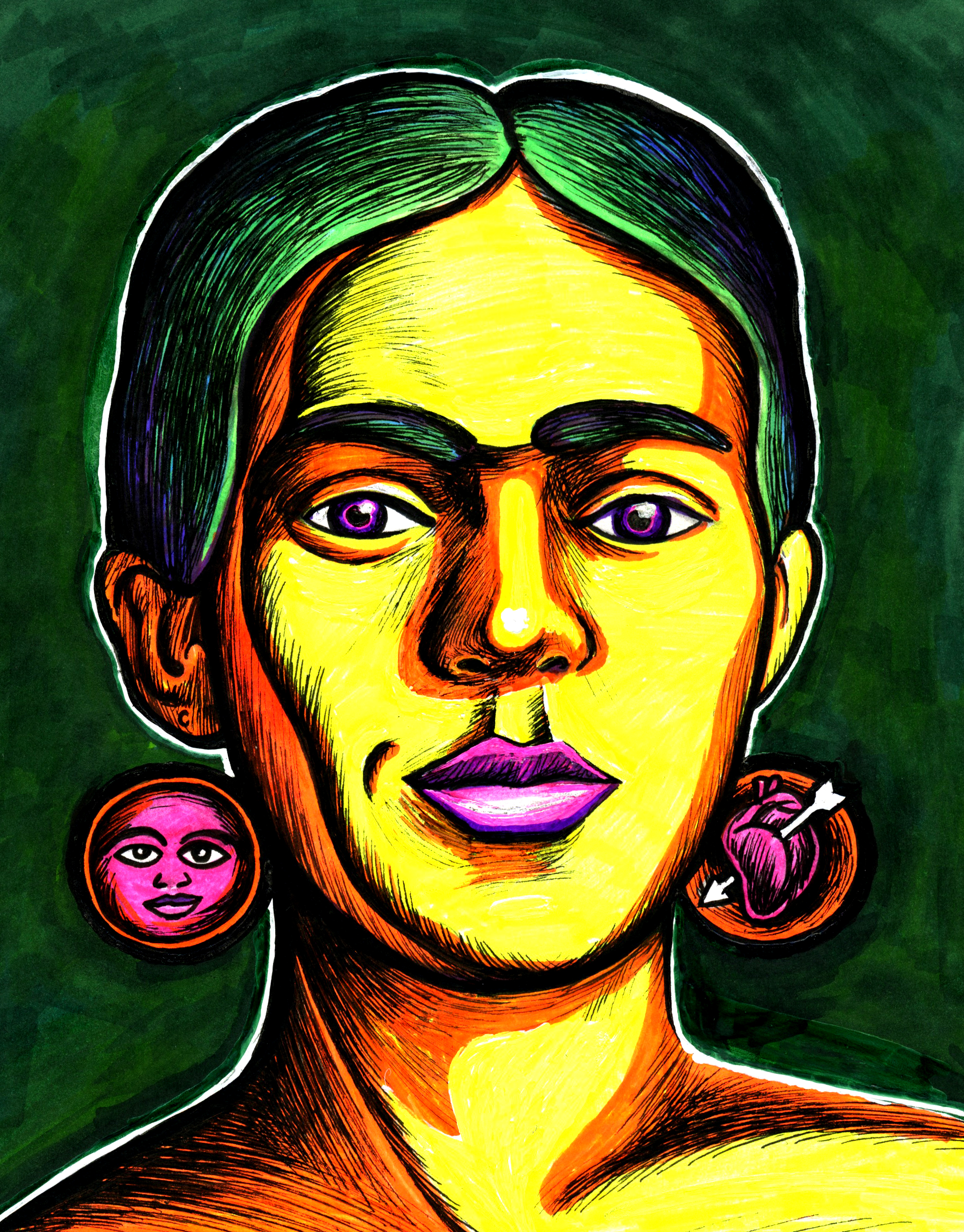Frida Kahlo  2015 ink on paper