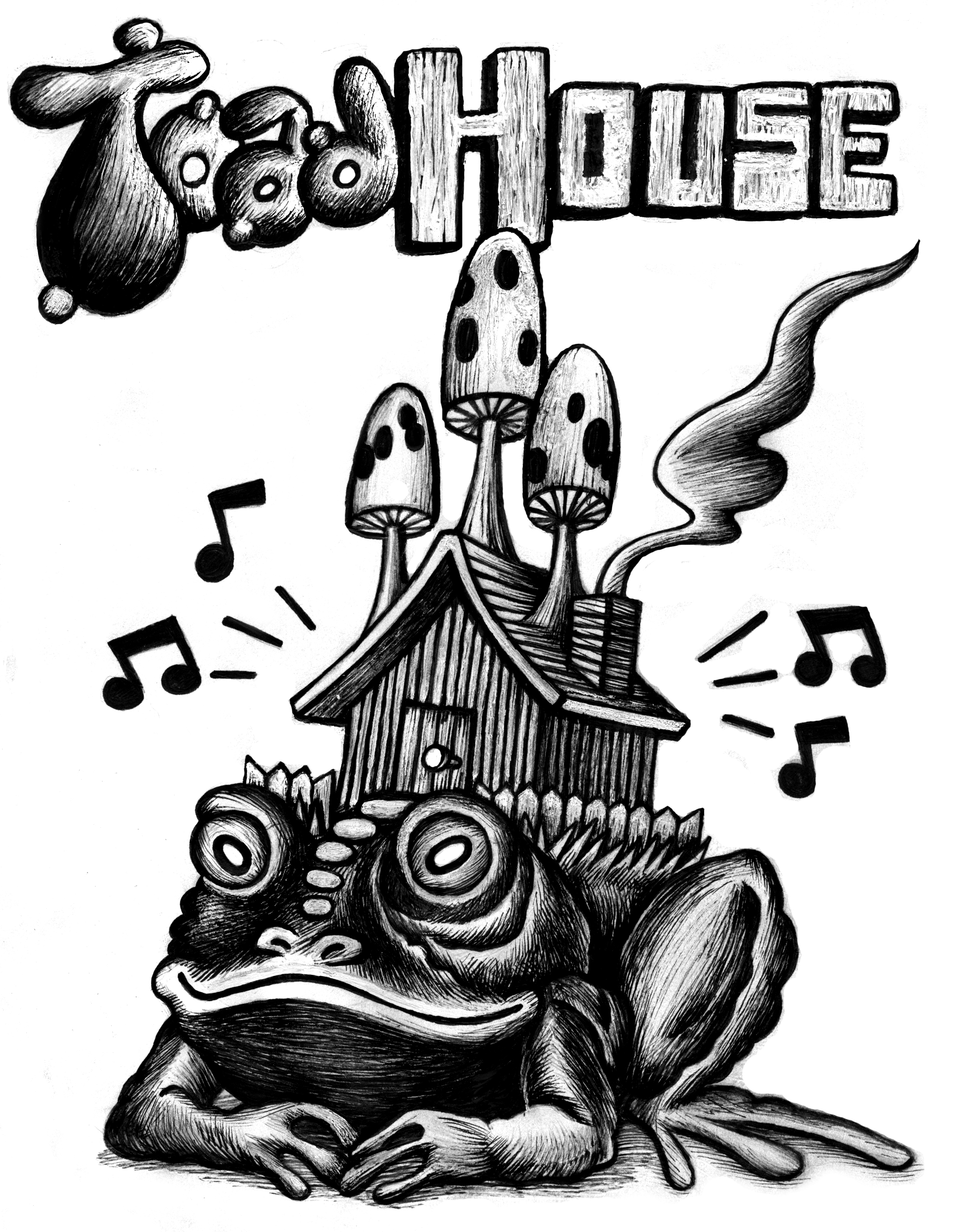 Logo for Toad House  2015 ink on paper