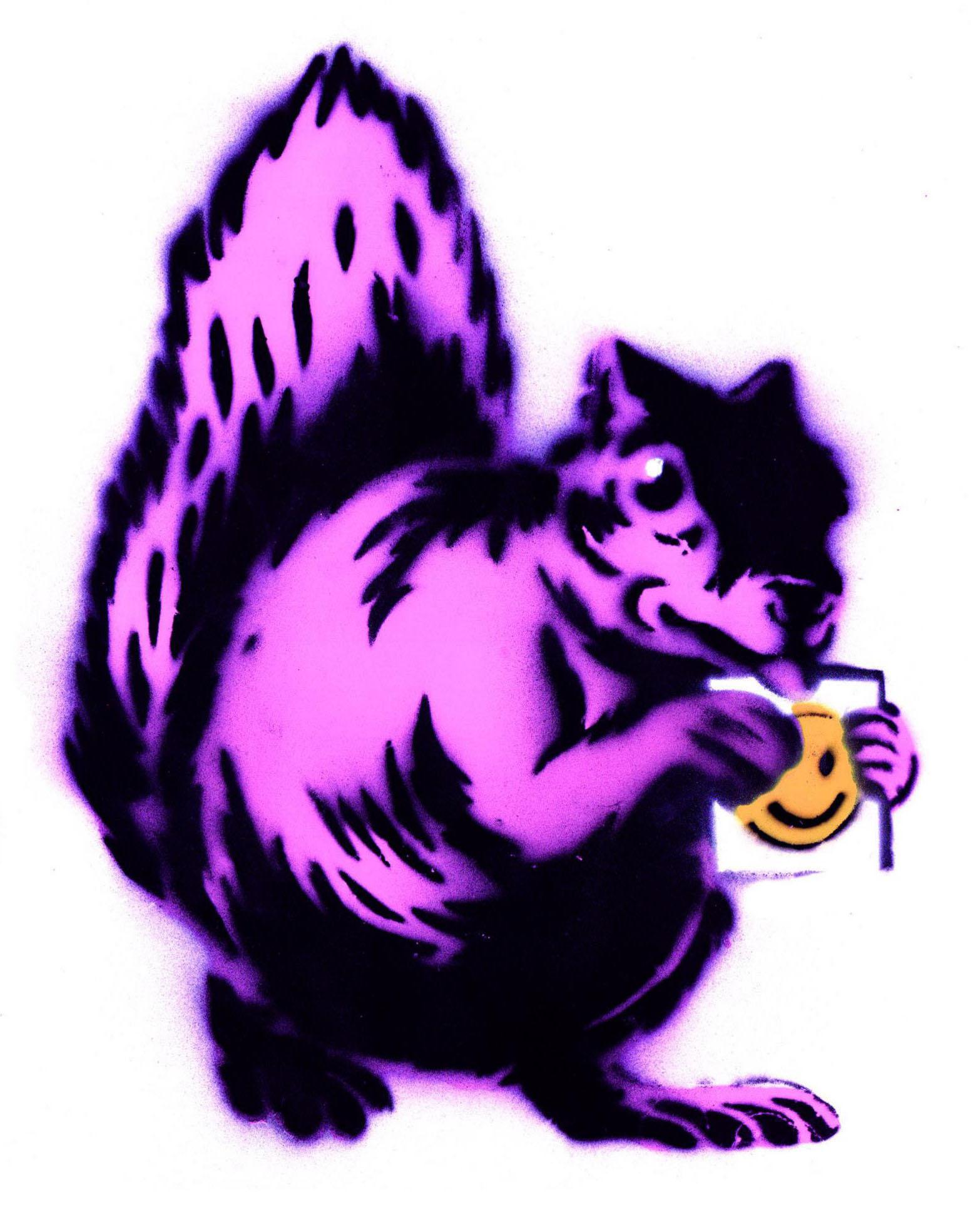 Pink Squirrel  2013 stencil