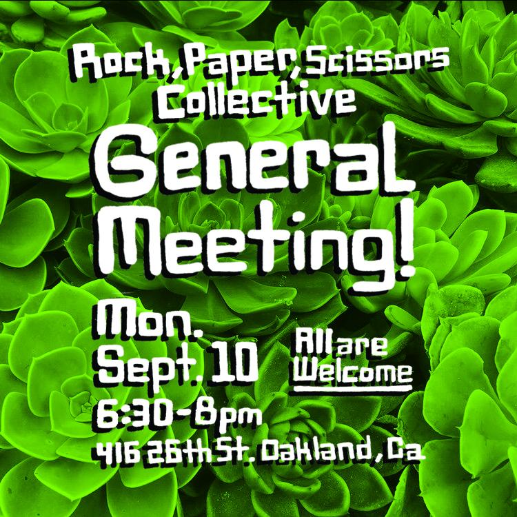 Flyer Design for Rock Paper Scissors Collective General Meeting  2018