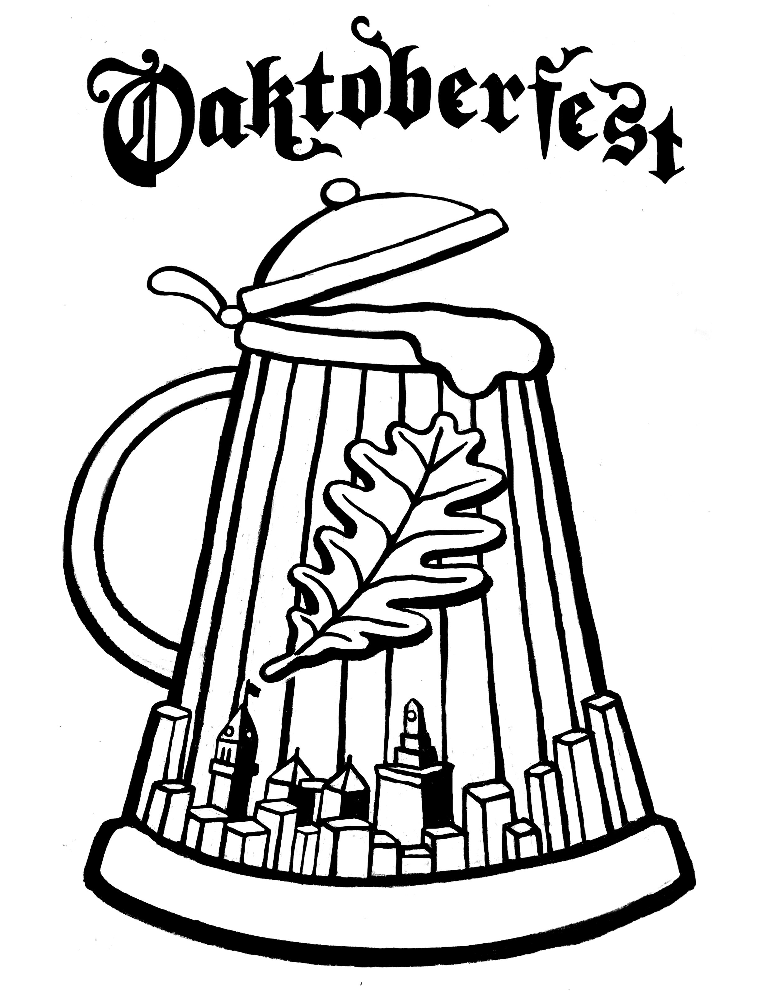 Oaktoberfest T-Shirt Design  2017