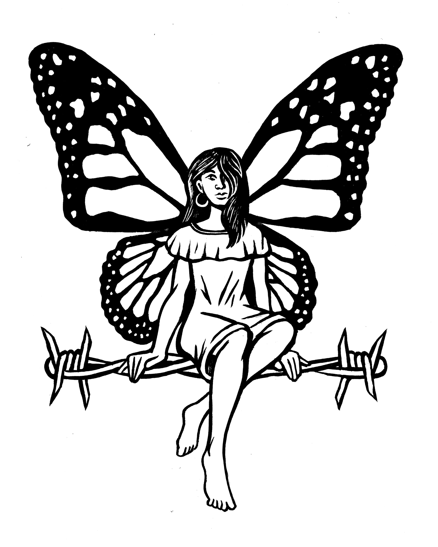 """""""Dreamer"""" Illustration printed in """"Yes, Maam"""" issue #12  2018"""