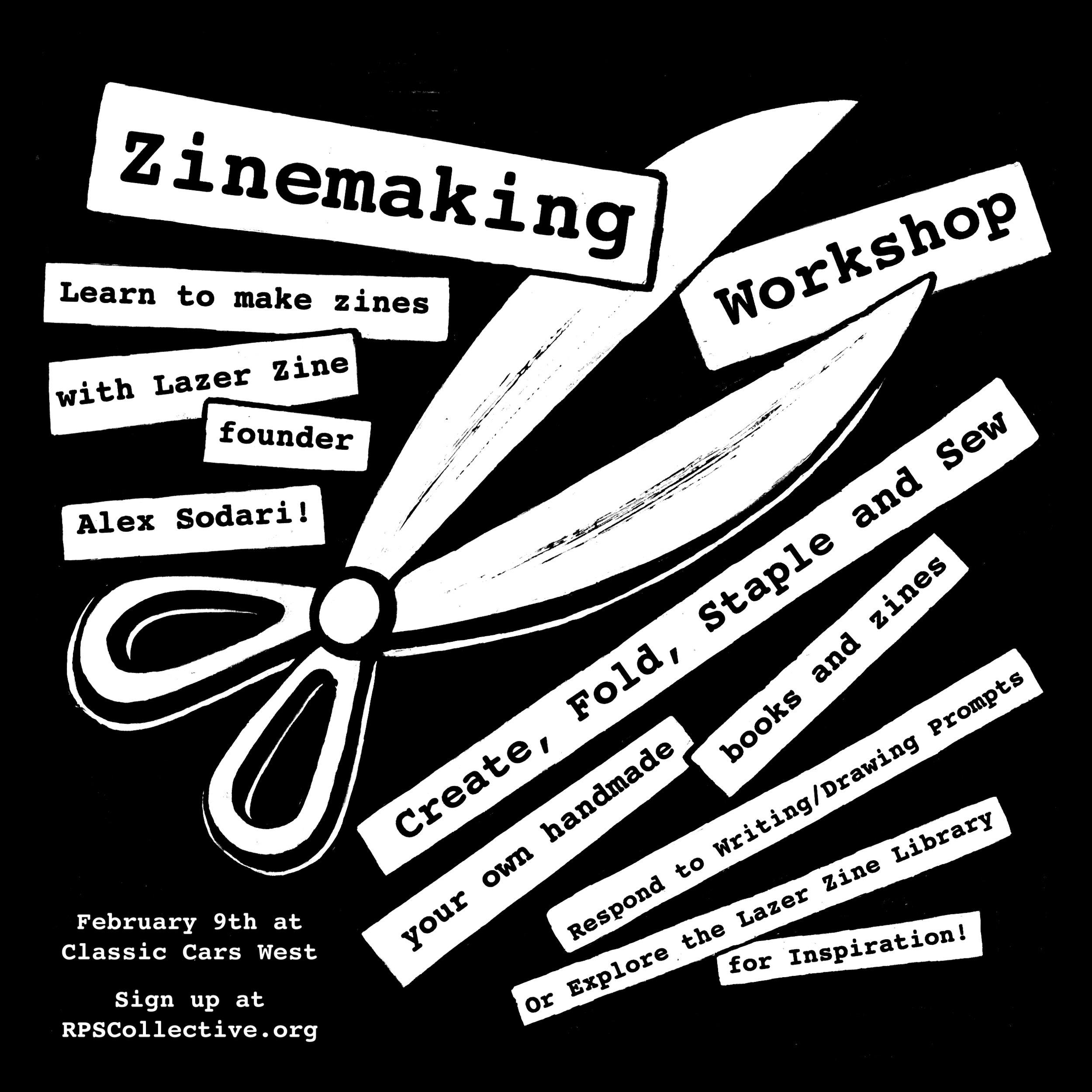 "Zine Making Workshop Flyer for ""Craft-a-Thon""  2019"