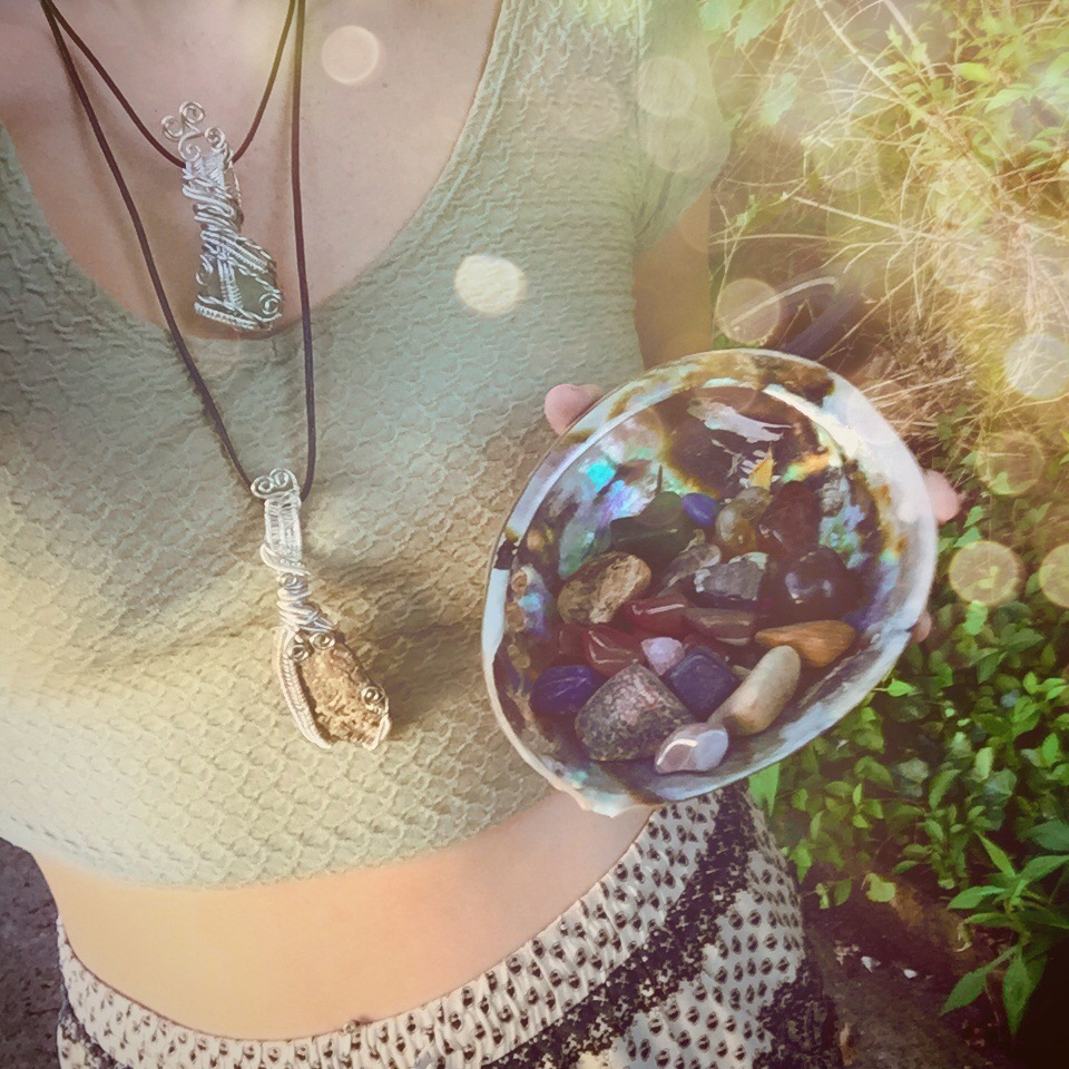 Felt like a mermaid today in my sea treasure healing jewelry!