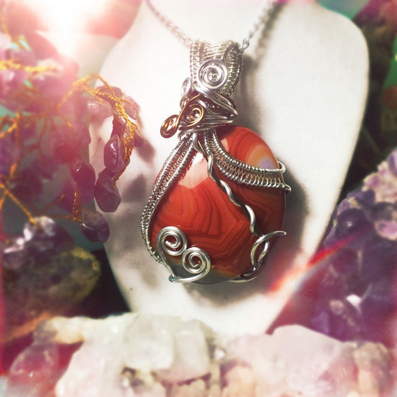 Let this bright orange Carnelian inspire you, made by And Zen Some.