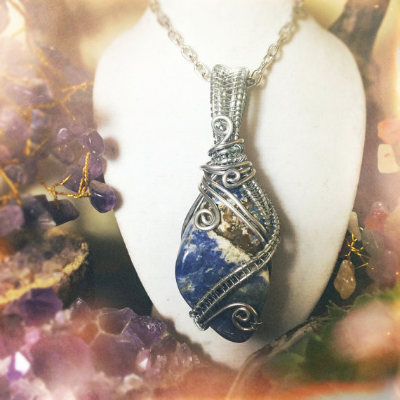 Use Sodalite to boost your expressive side, available on my etsy!