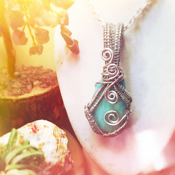 Amazonite, handmade and on sale now by And Zen Some.