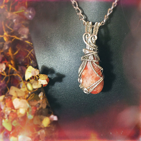 New Sunstone pendant to And Zen Some.