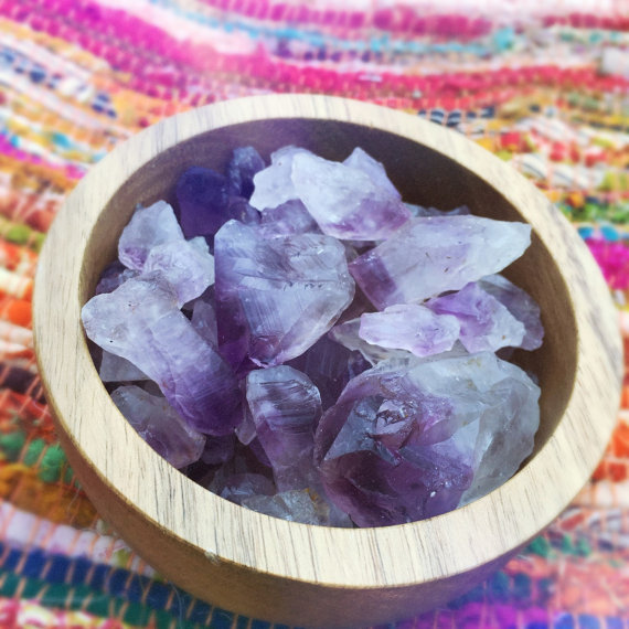 Click the photo above to shop for amethyst points or get one custom wrapped!