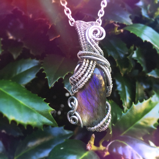 Beautiful and rare purple labradorite wrapped by And Zen Some. (Now on sale!!)