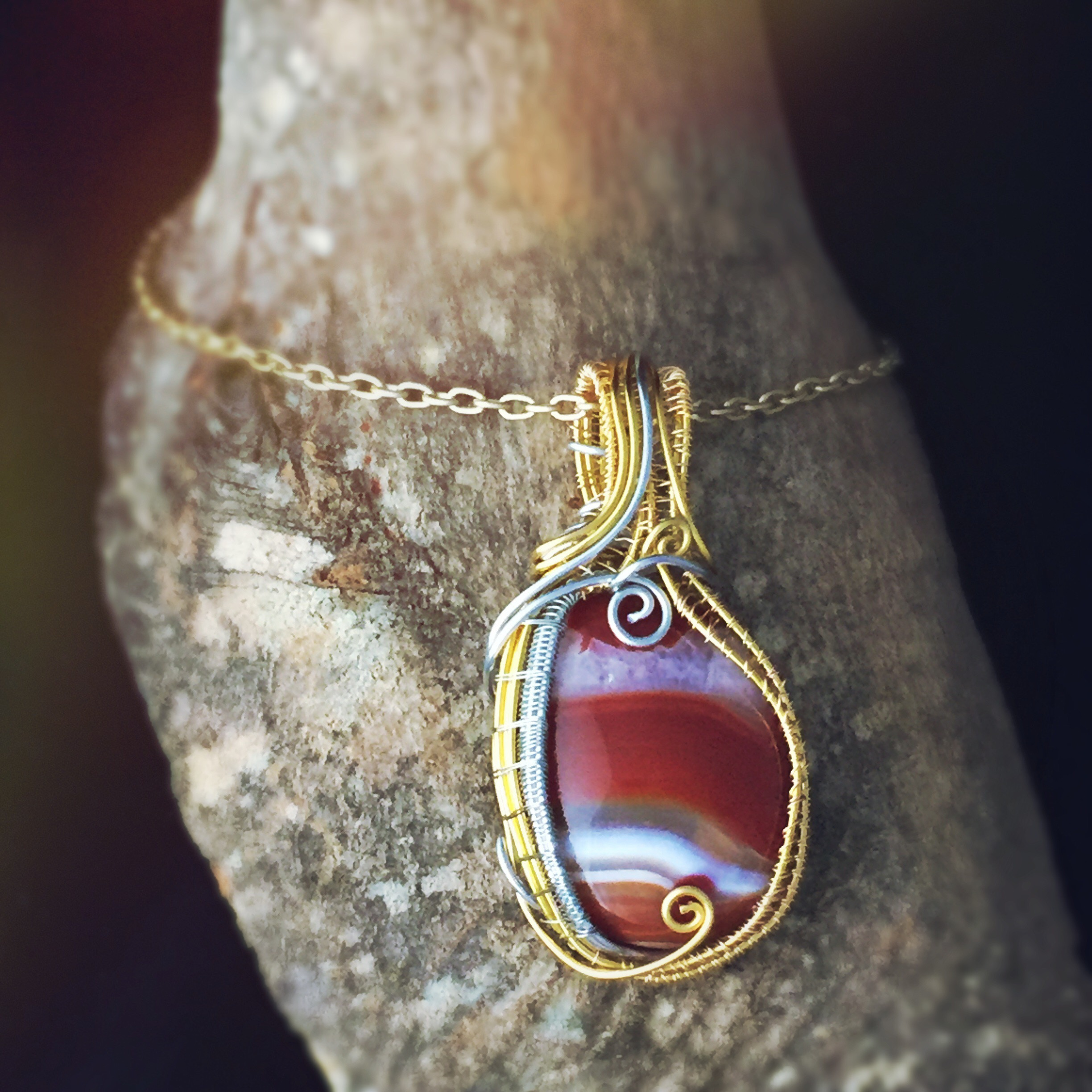 Wire Wrapped Carnelian Stone, awesome healing crystal for Leo Sun Sign! By And Zen Some