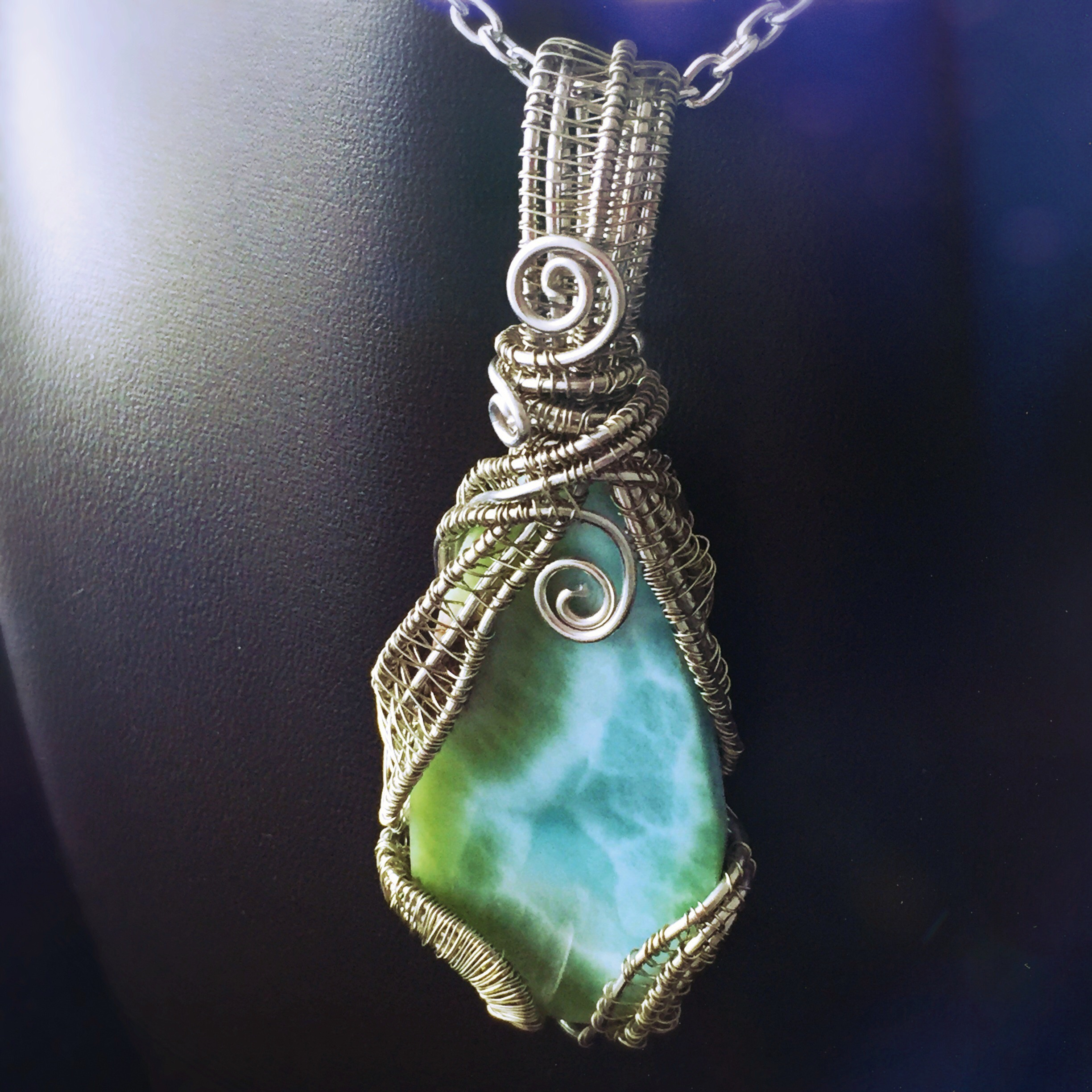A beautiful rare stone, perfect for Scorpio energy! Find this larimar by And Zen Some by clicking here .