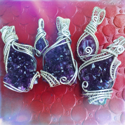 Amethyst wire wrapped pendants are soooo perfect for Aquarius Zodiac Signs. Get this healing crystal here!