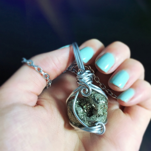 Check out this Pyrite Piece wrapped by Rae of And Zen Some! It is sure to bring some wealth your way.