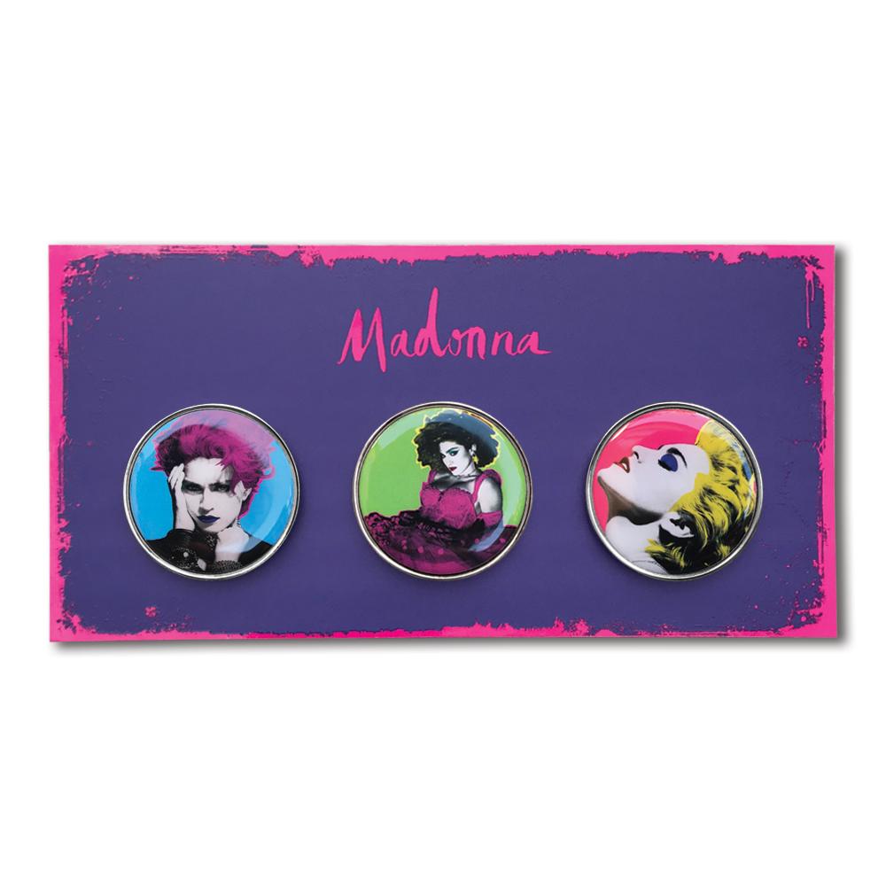 Madonna- Pop Art Pin Set- by waxoffdesign