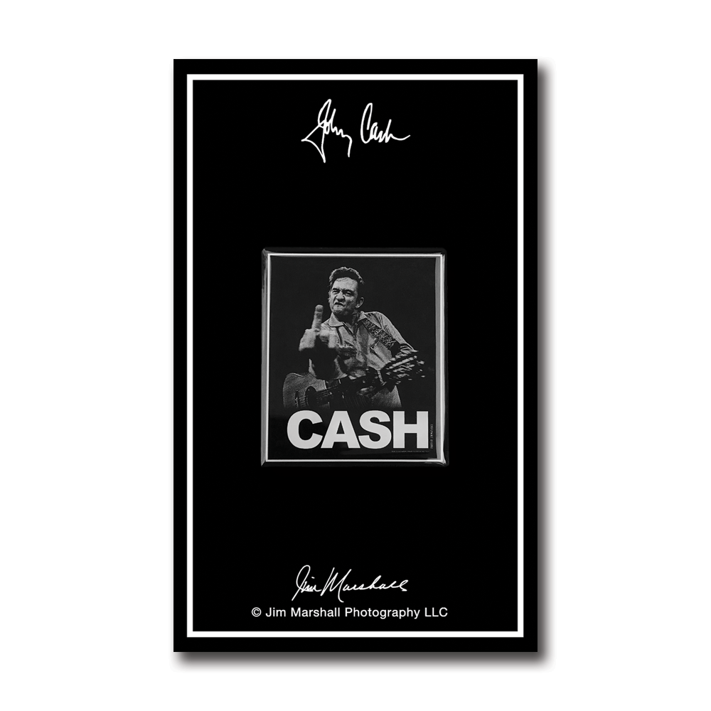 Johnny Cash 'The Bird' Pin- by waxoffdesign
