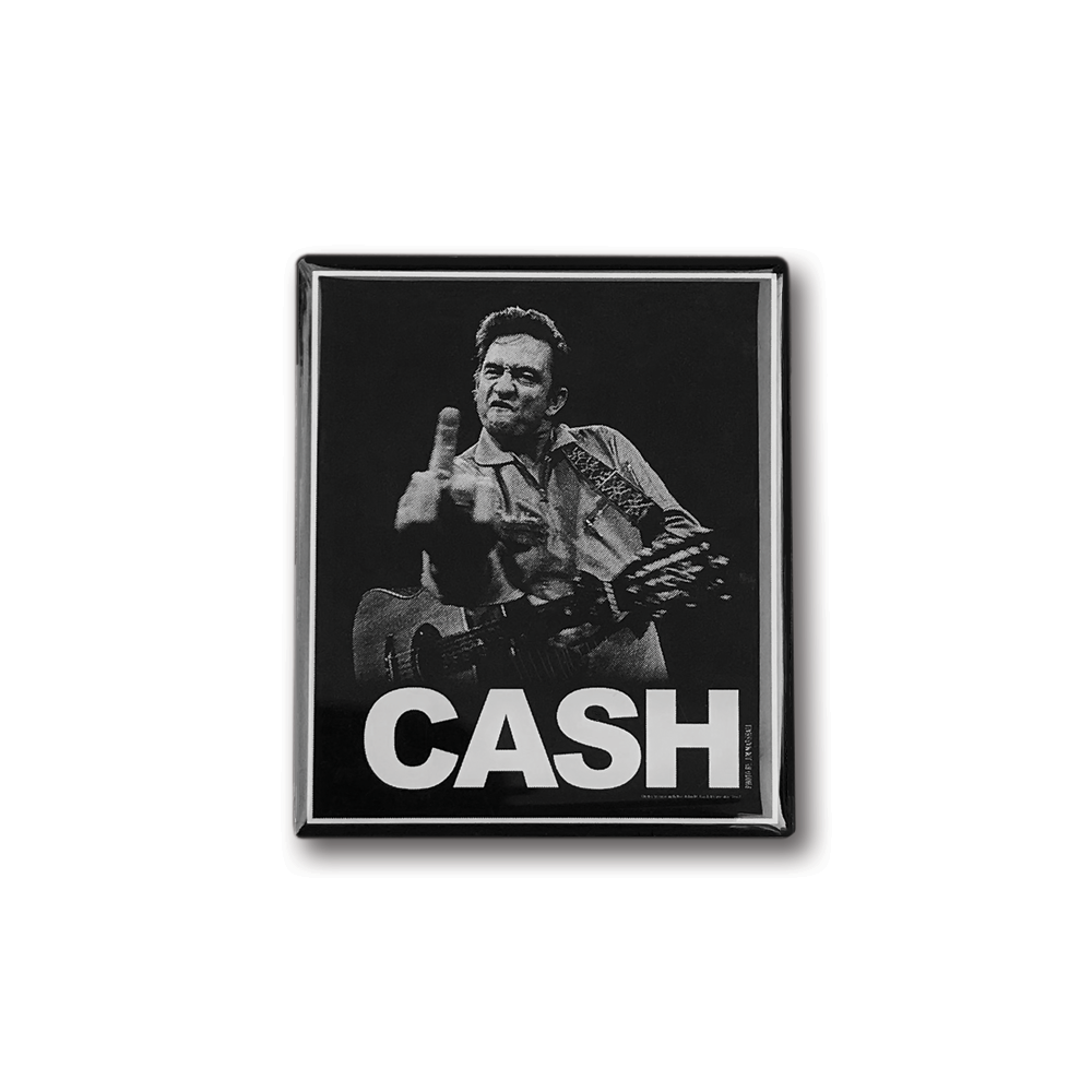 Johnny Cash- 'The Bird' Pin- by waxoffdesign
